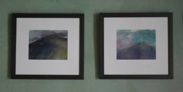 Kumar Saraff. Mountain Study I & II watercolour 1