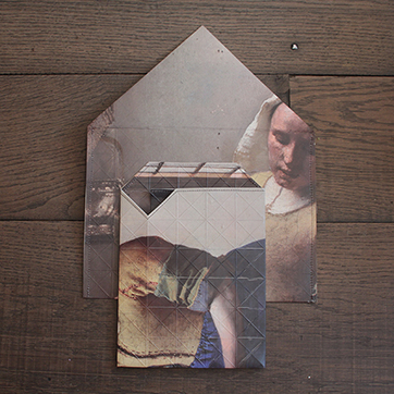 Vermeer Milkmaid by Pepe Heykoop. Paper Vase Cover. £18.